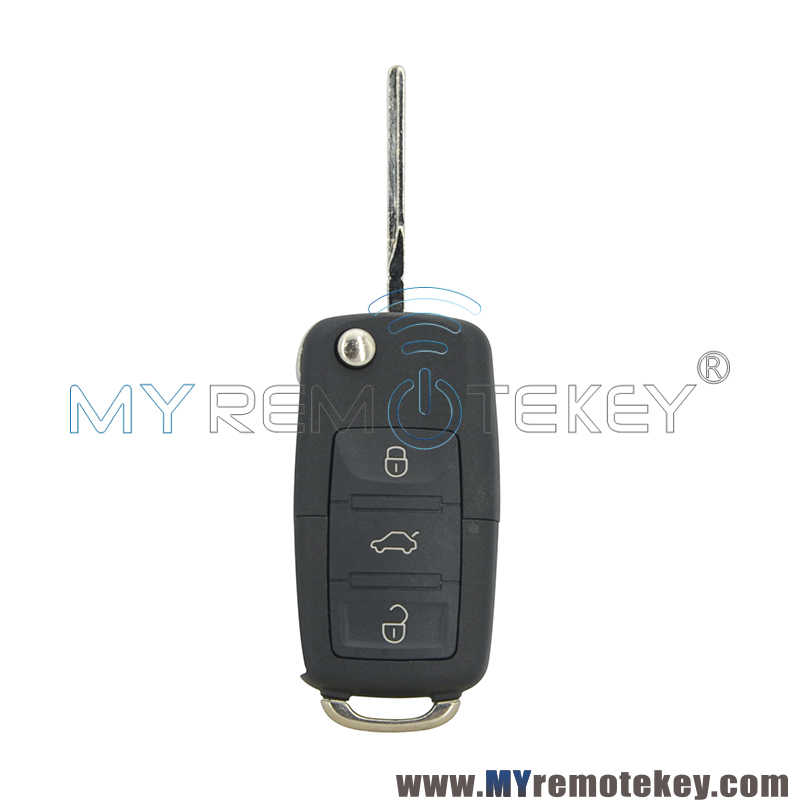 Remtekey 1K0 959 753N дистанционного ключа для VW Skoda OCTAVIA III Golf Passat Bora Jetta HU66 3 кнопки 434 МГц 1K0959753N флип-ключ для автомобиля