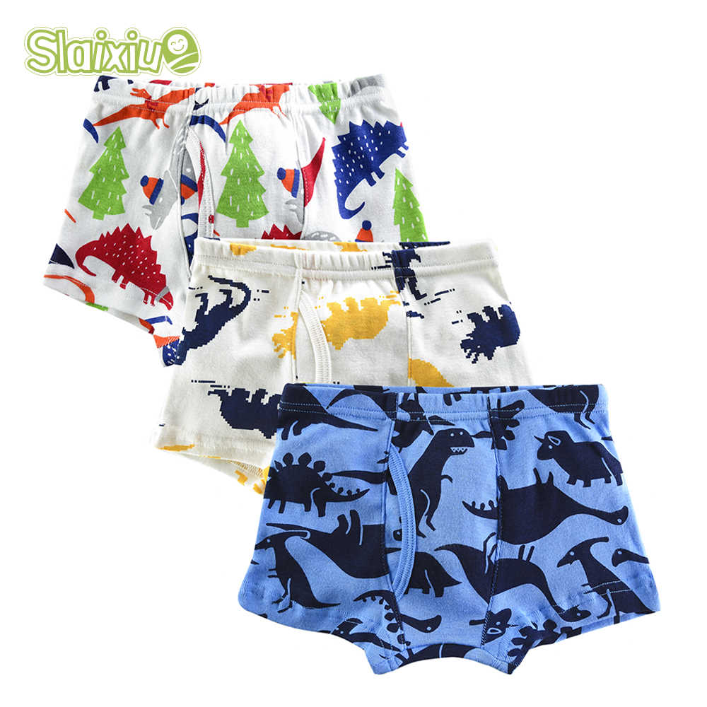 3Pcs/lot Cotton briefs for boys underwear kid boy boxer Children Panties Soft Organic Teenager Underpants for 2-10years old