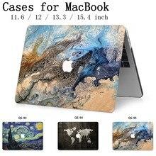 Для ноутбука MacBook сумка чехол для ноутбука для MacBook Air Pro retina 11 12 13,3 15,4 дюймов с защитой экрана крышка клавиатуры
