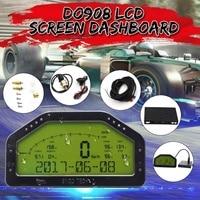 Waterproof D0908 LED Dash Race Display Kits Bar/PSI KMH/MPH 9000RPM Universal For 12V Professional Racing Car Full Sensor