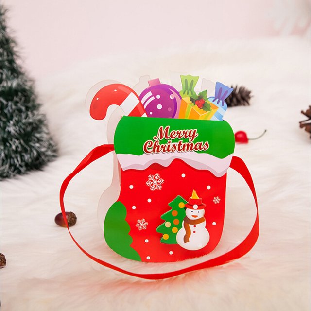 Christmas Gift Bags For Kids.Us 0 71 10 Off Santa Xmas Christmas Gift Bag Kids Girls Boys Candy Merry Christmas Pocket Home Store Gift Storage Bags In Stockings Gift Holders