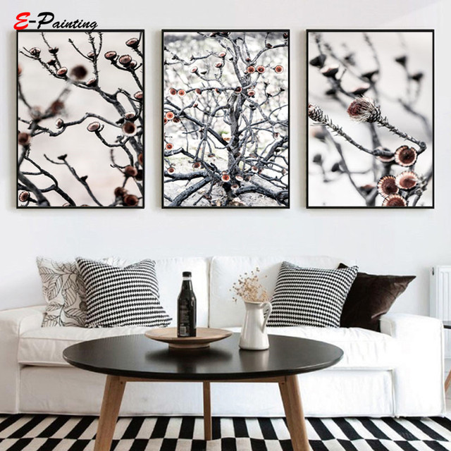 Modern Canvas Painting Picture Swartberg Protea Tree Photography Picture Wall Art Decoration Poster Living Room Home Decor