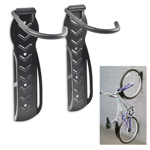 Image 1 - 2pcs bike wall hook Holder Stand bicycle Wall Mounted Storage Parking Rack Heavy Duty MTB road bike hanger Cycling Accessories