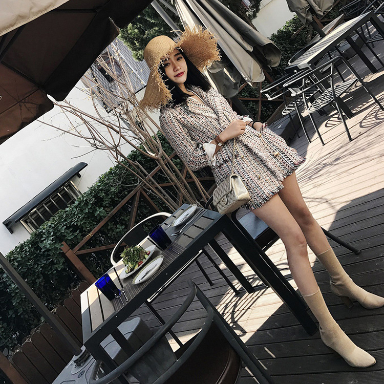 LANMREM 2019 New Spring Double breasted Blend Woolen Tassel Jacket For Women High Quality Irregular Patchwork Fashion Coat QF081-in Wool & Blends from Women's Clothing    2
