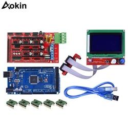 3D drukarki zestaw sterowniczy Mega 2560 R3 + rampy 1.4 + A4988 sterownik silnika krokowego + wyświetlacz LCD 12864 graficzne inteligentny kontroler + Adapter