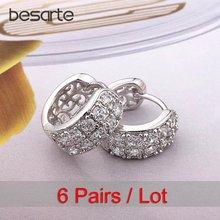 6 парт/лот маленькие серьги кольца для женщин золотые детские