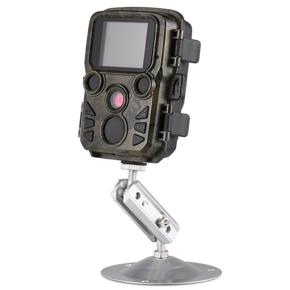 Faune 12MP 1080 P Mini caméra de chasse piège Photo de sentier caméra de repérage de la faune en plein air avec capteur PIR