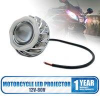 2pcs LED Motorcycle Headlight Angel Demon Eye Spotlight Double Halo Projection Lamp