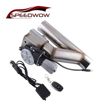 SPEEDWOW 2.5 Inch Stainless Steel Headers Y pipe Electric Exhaust  Catback CutOut Kit With Remote control Car Muffler