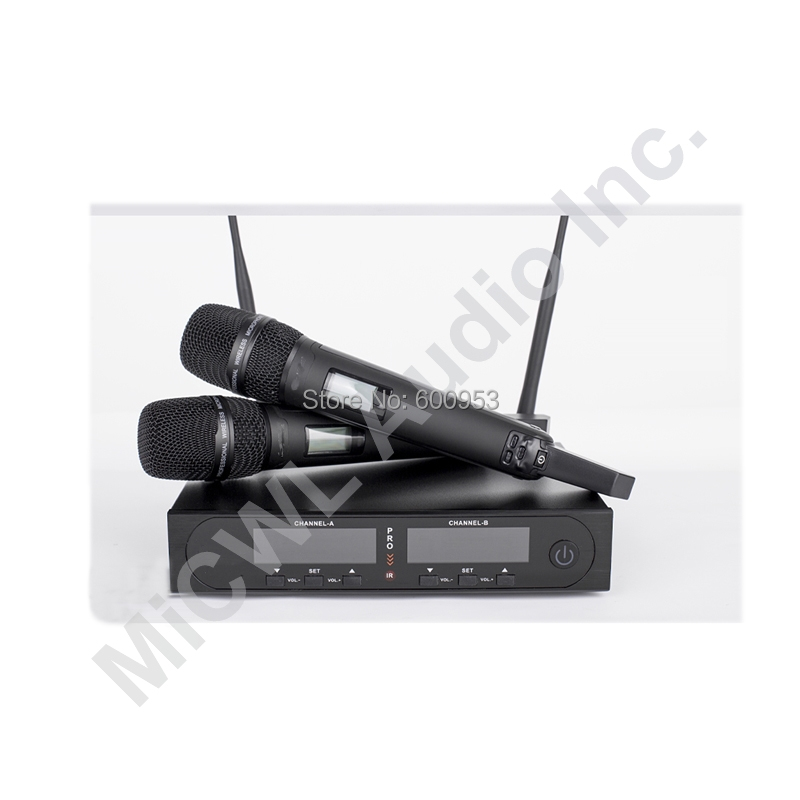 Wireless headset microphone system for singers