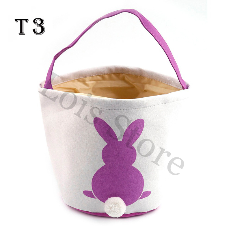 Wholesale Easter Basket 20pcs lot 18 Styles Monogrammed Blank Easter Tote Bag Personalized Easter Bucket