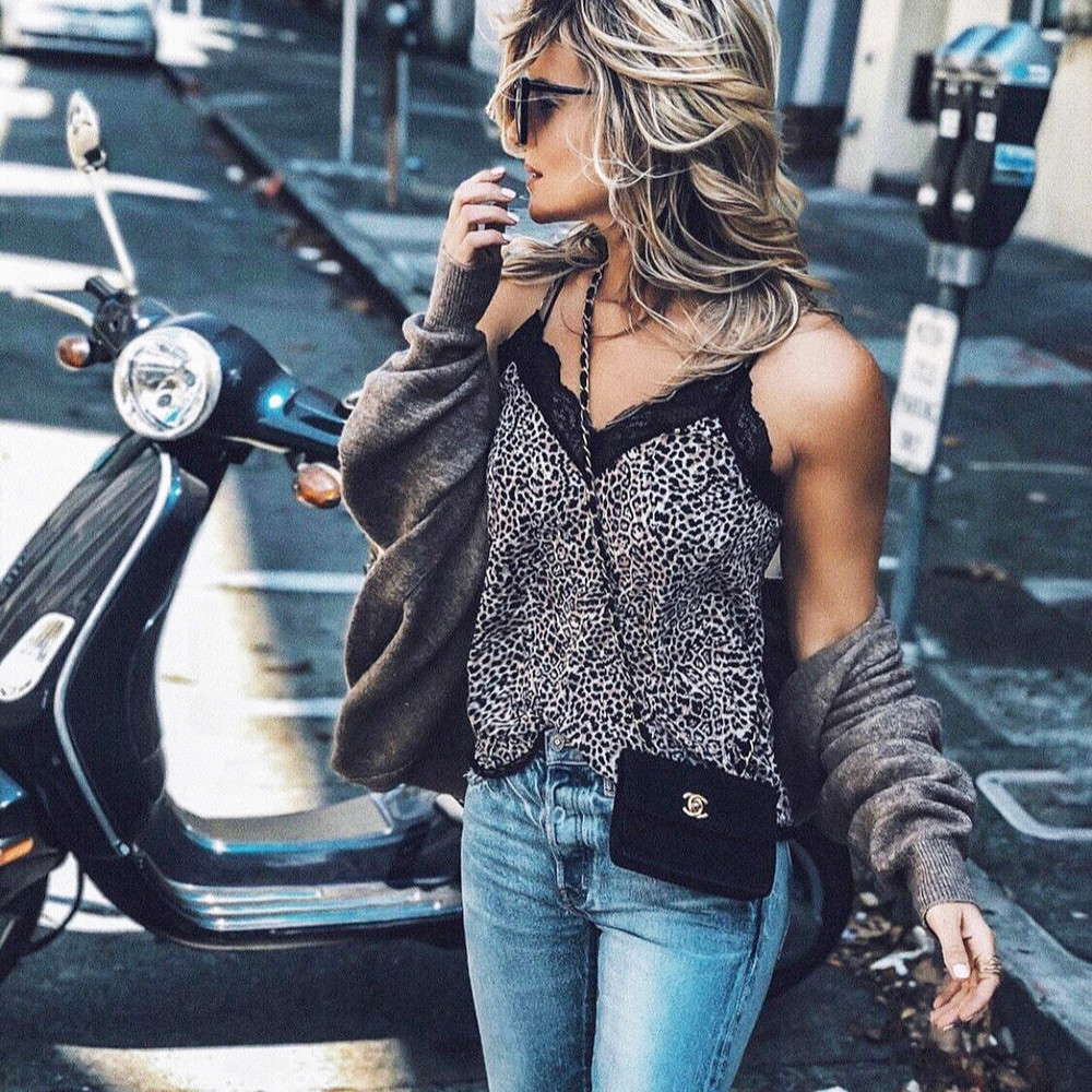 2019 Fashion Women   Blouse   Lace V Neck Leopard Print Snake Skin Pattern Sexy   Blouse     Shirt   Clubwear Casual Womens   Blouses   Tops