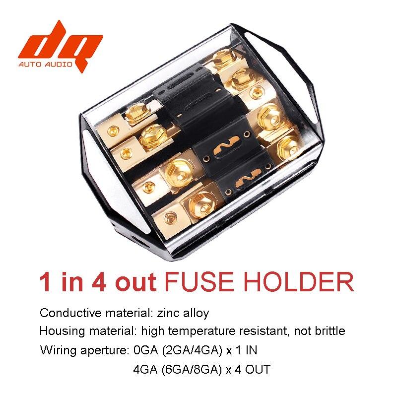 12 V 24 V 1 en 4 façons de voiture Audio puissance assurance siège fusible boîte 100A-300A fourche boulon Fusibles support Fusibles Auto haute qualité