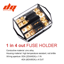12V 24V 1 IN 4 Ways OUT Car Audio Power Insurance Seat Fuse Box 100A   300A Fork Bolt Fuses Holder Fusibles Auto High Quality