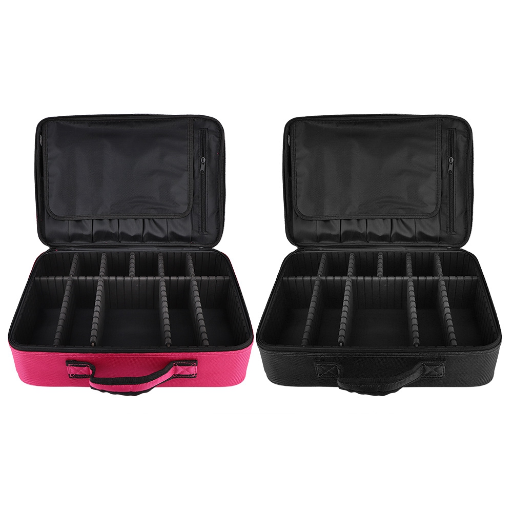 Upgrated 3 Layers Bags Cosmetic Organizer Beauty Artist Makeup Case with Shoulder Strap Storage Bag Container