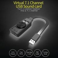 GS3 аудио Виртуальный 7,1 канальный адаптер Внешний USB 3,5 мм гарнитура конвертер Черный стерео звуковая карта для настольных ПК тетрадь #19