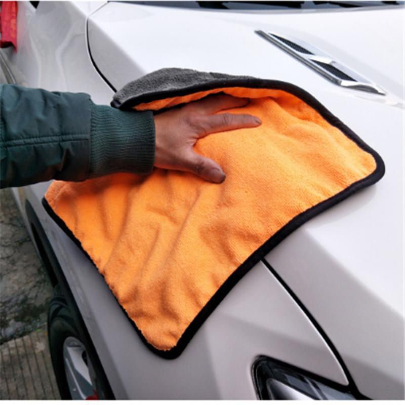 840GSM 38*40cm Super Thick Plush Microfiber Car Cleaning Cloths Car Care Microfibre Wax Polishing Detailing Towels A10