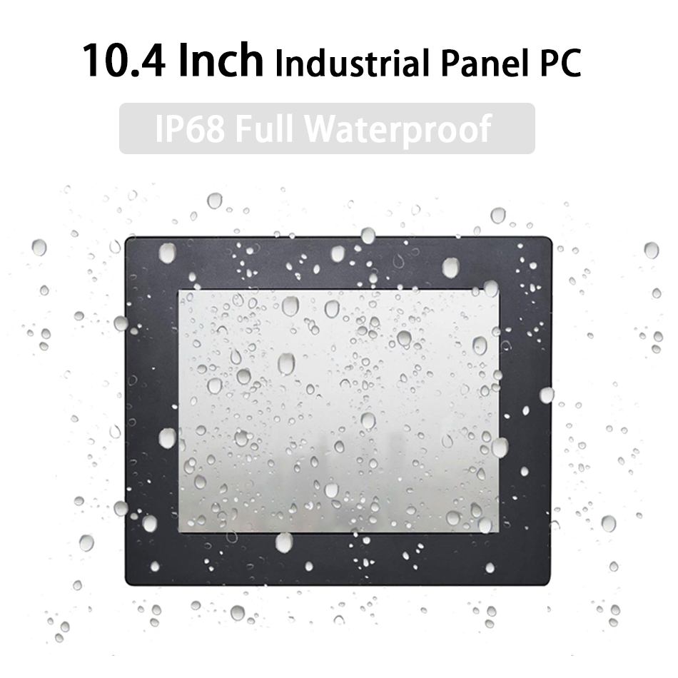 IP68 Full Waterproof 10.4 Inch Industrial Panel PC ,Resistive Touch Screen,Windows 7/10/Linux,Intel J1900,[HUNSN DA18W]
