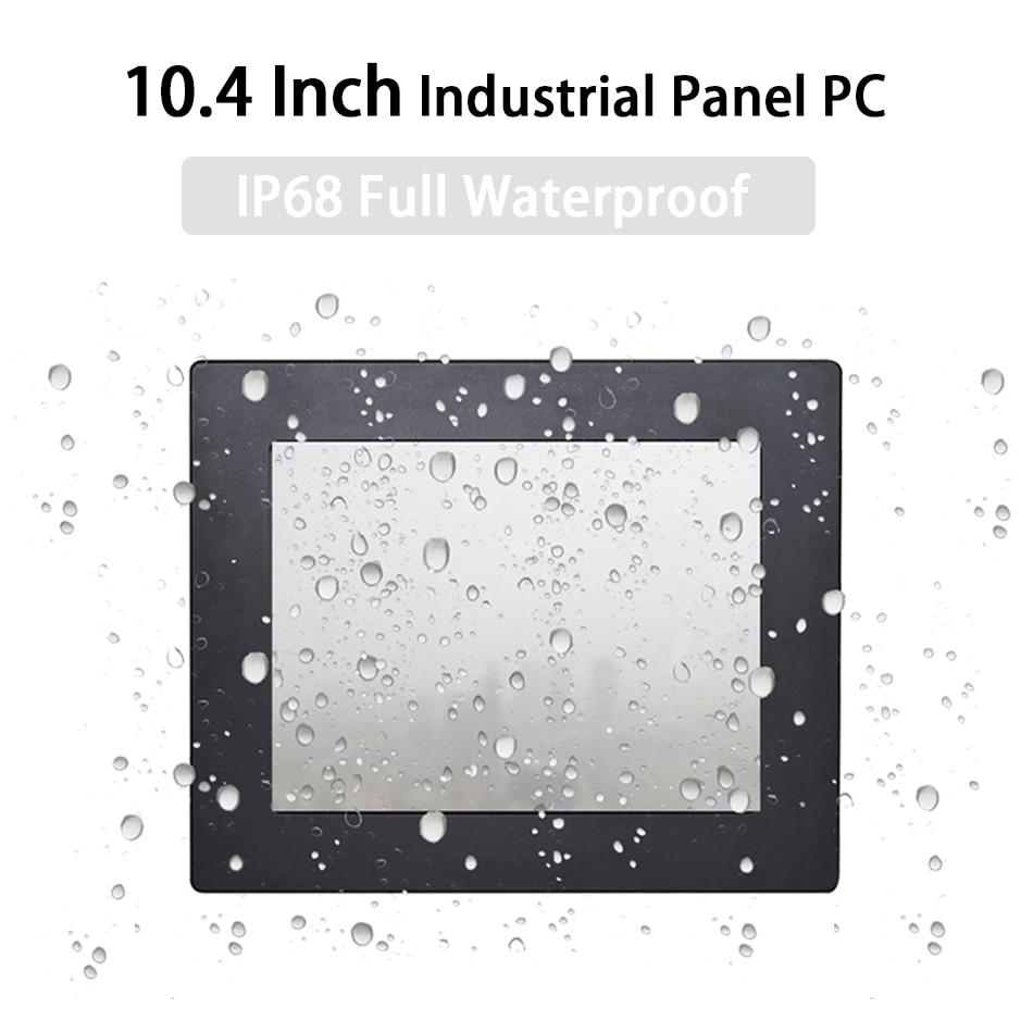 IP68 Full Waterproof 10.4 Inch Industrial Panel PC ,Resistive Touch Screen,Windows 7/10/Linux,Intel J1900,[HUNSN DA18W]