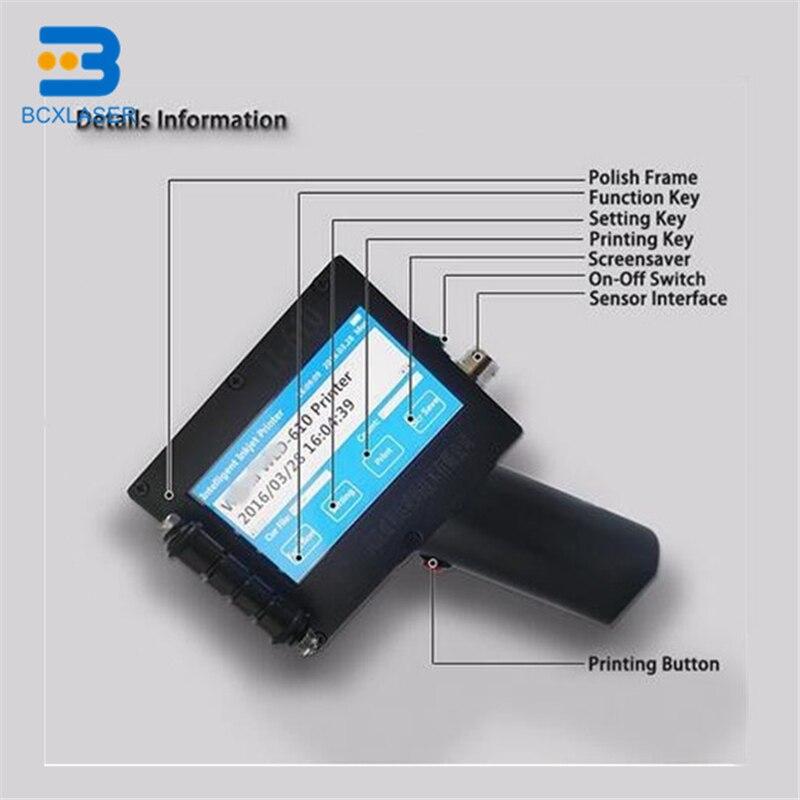 Portable Hand Held Plastic Bag Inkjet Printer For Batch Number For Package