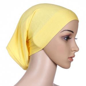 Image 3 - Muslim Women Head Scarf Cotton Underscarf Stretch Hijab Cover Headwrap Underscarf Cap Shawl Islam Scarf Inner Headband Bonnet
