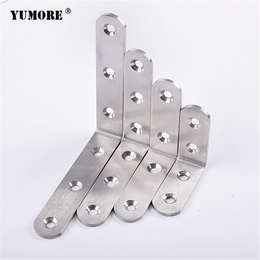 DHL free shipping 80 80mm Stainless Steel decorative mounted metal bracket for wood 3mm 100pcs lot