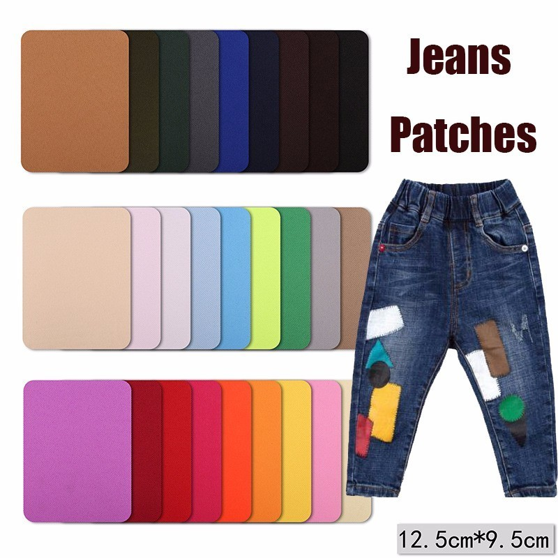 New Fabric Jeans Iron-on Patches Clothes Repair Pants Knee Applique Apparel