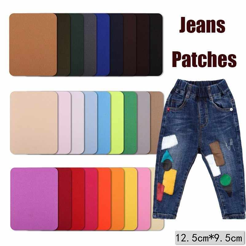 PGY Elbow Patches Clothes DIY Jeans Iron On Patches Repair Pants Knee Applique Apparel Fabric Sewing Accessory for Jeans Parches