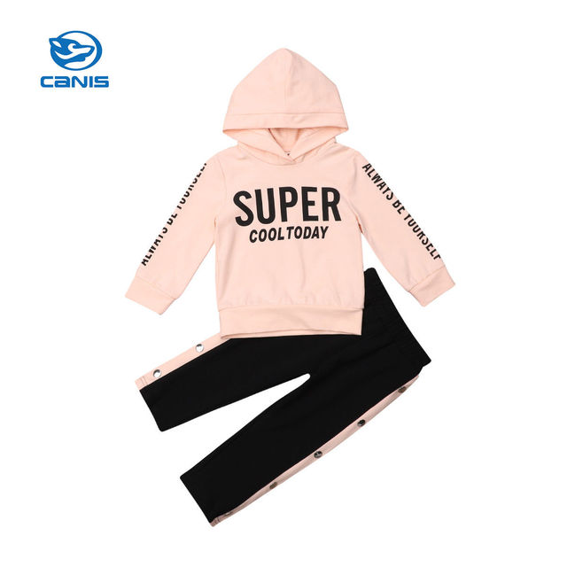 274827d8524e 2018 Multitrust Brand Toddler Kids Baby Girls Hooded Pink Super Tops ...
