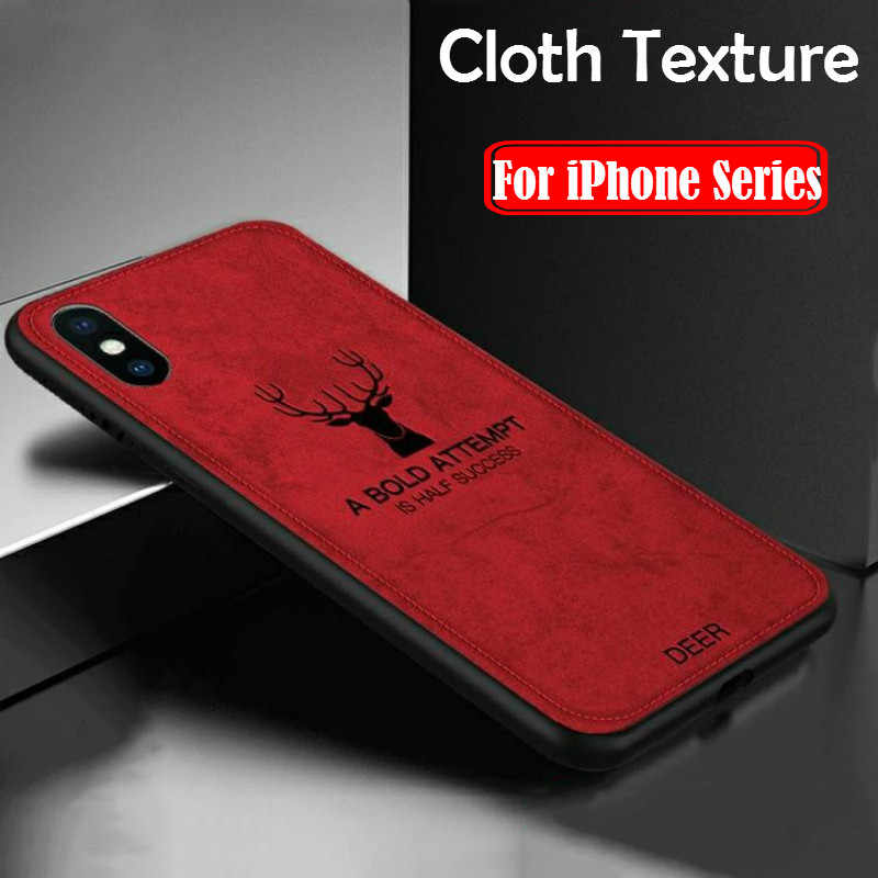 Silicone Fabric Bat Cloth Deer Covers for iphone11 Pro max XR X XS phone case for iphone 7 8 plus leather tpu back cover coque