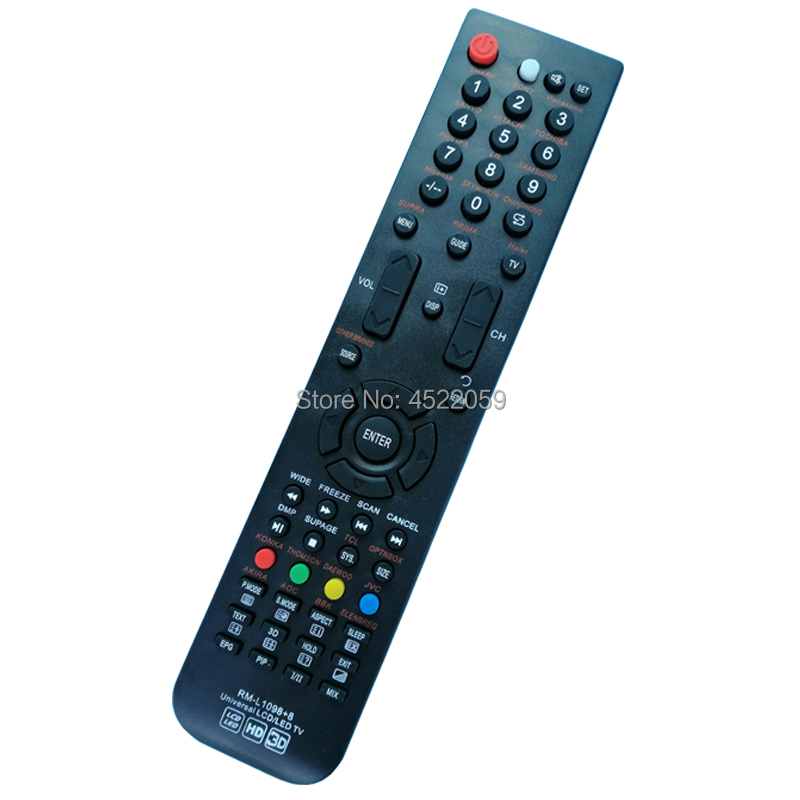 US $1 78 |RM L1098+8 UNIVERSAL TV REMOTE CONTROL FOR  LG TCL JVC AOC SUPRA SONY SHARP HISENSE LCD/LED/HDTV-in Remote Controls  from Consumer Electronics