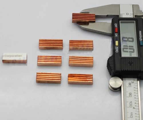 8 Buah/Pak MC-200 Tembaga Memori Cooler Heatsink Radiator Heat Sink