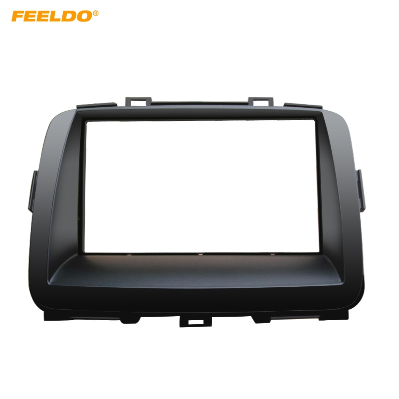 FEELDO Car Double Din DVD Radio Fascia Frame for KIA Carens 2013 Dashboard Panel Mount Adapter