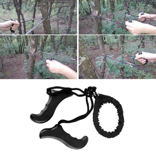 48cm Outdoor Survival Pocket Chain Saw Hand Chainsaw Camping Hiking Hunting Outdoor Emergency Kits 6