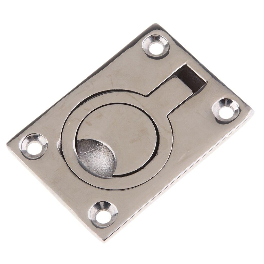 2pcs 316 Stainless Steel Boat Door Floor Hatch Flush Mount Pull Ring Handle