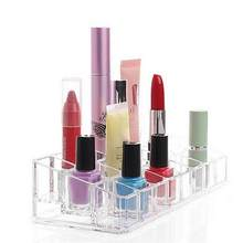 24 Lipstick Holder Display Stand Clear Acrylic Cosmetic Organizer Makeup Case Eyebrow Pencil Rack Lipstick Box 40(China)