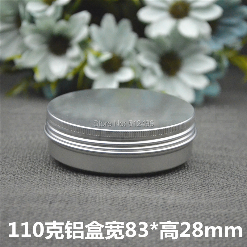 110g refillable box empty round aluminum metal tin cans bottle with lids,110ml cosmetic cream box DIY seal aluminum jar