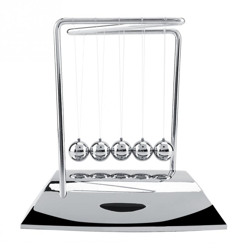 Steel-Balls Pendulum-Ornaments Science-Pendulum Physics-Science Newtons Cradle title=