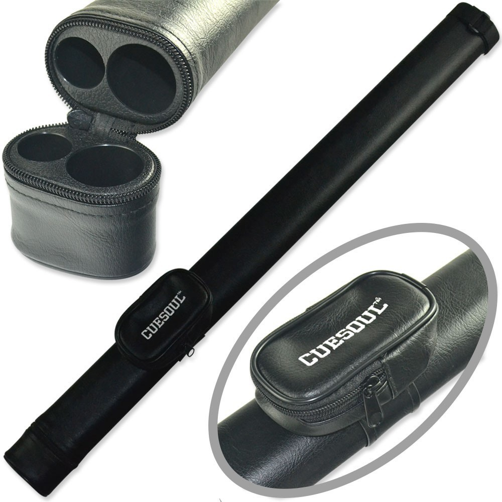 CUESOUL Two Tone Pool Cue Tube Case 1 Butt 1 Shaft Billiard Cue Canister For 1