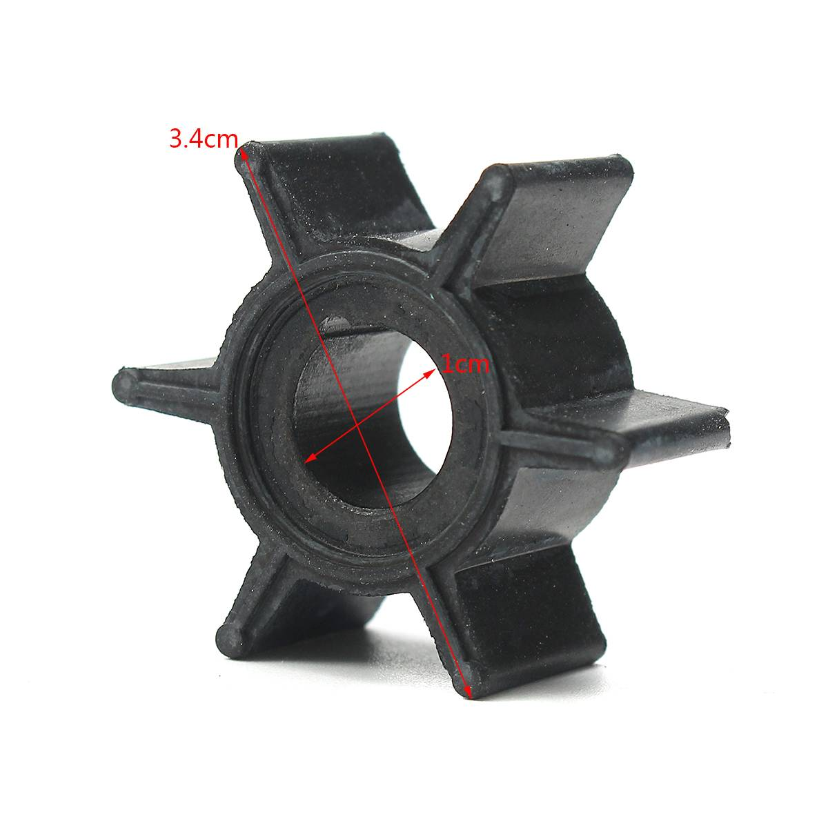 Water Pump Impeller Black Rubber For Tohatsu/Mercury/Sierra 2/2.5/3.5/4/5/6HP Outboard Motor 6 Blades Boat Parts & Accessories image