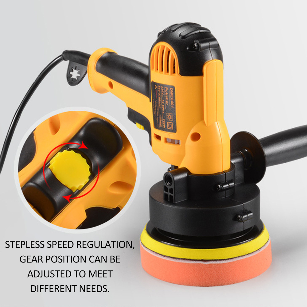 Image 4 - KKmoon 700W Car Polisher Machine Electric auto Polishing Machine Adjustable Speed Sanding Waxing Grinding Tools car accessorie-in Polishers from Tools on
