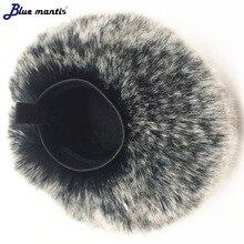 Deat cat пушистое лобовое стекло для Zoom H4N PRO высококачественное искусственное лобовое стекло для Zoom H4N PRO Blue mantis