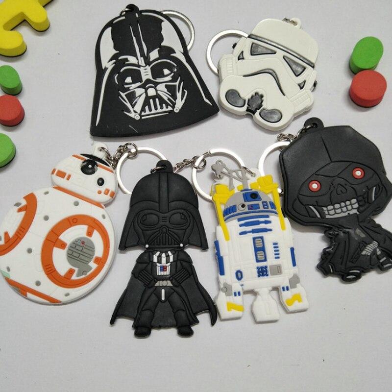 1 Pcs Leuke Klassieke Star Wars Wekt Sleutelhanger Stormtrooper Darth Vader Pvc Hanger Sleutelhanger Action Figure Speelgoed