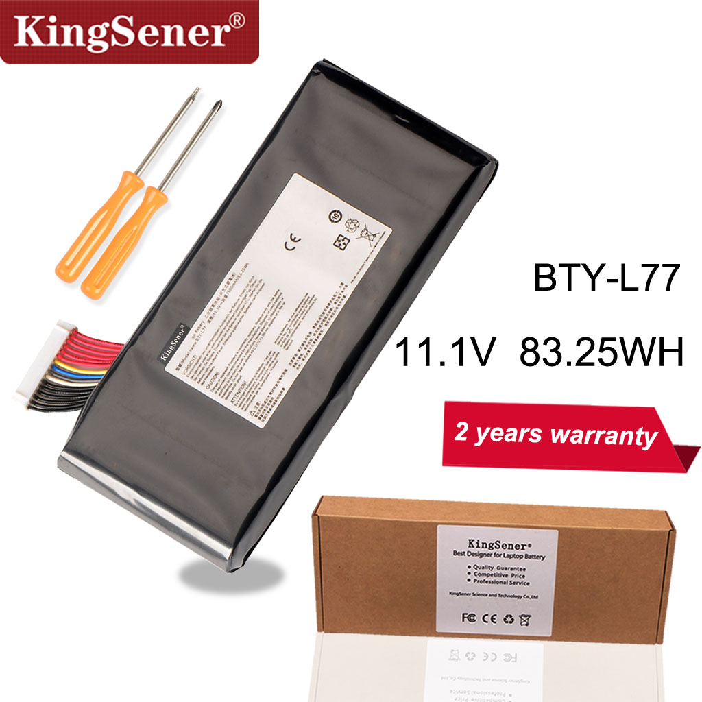 KingSener BTY-L77 Laptop Battery For MSI GT72 2QD GT72S 6QF GT80 2QE GT80S WT72 MS-1781 MS-1783 2PE-022CN 2QD-1019XCN 2QD-292XCNKingSener BTY-L77 Laptop Battery For MSI GT72 2QD GT72S 6QF GT80 2QE GT80S WT72 MS-1781 MS-1783 2PE-022CN 2QD-1019XCN 2QD-292XCN