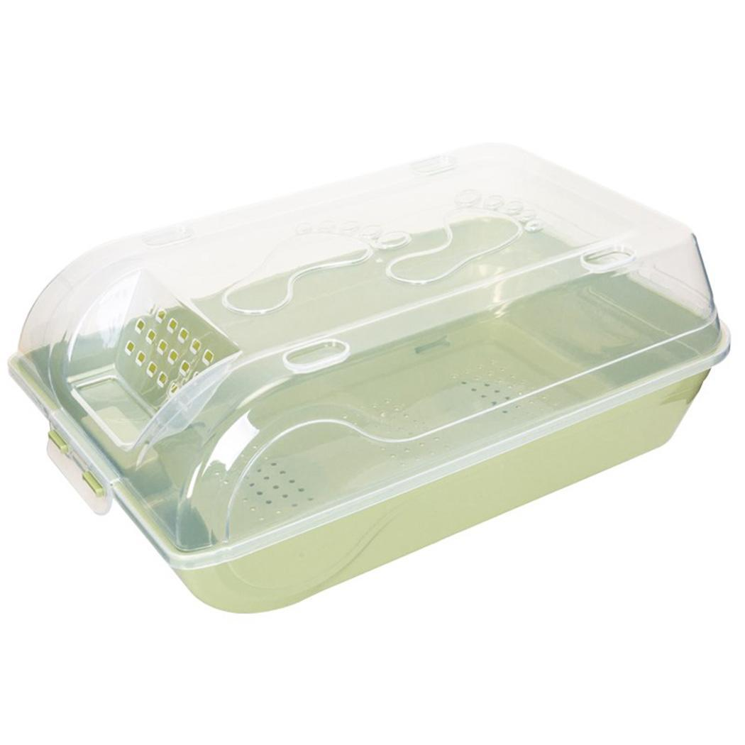 Plastic Shoe Box Transparent Stackable Household Home, Hotel, etc Green, Pink, Blue Shoe Storage Organizer Solid