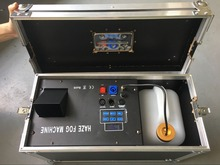 stage light effice machine 1500W dmx hazer fog machine with flight case цена
