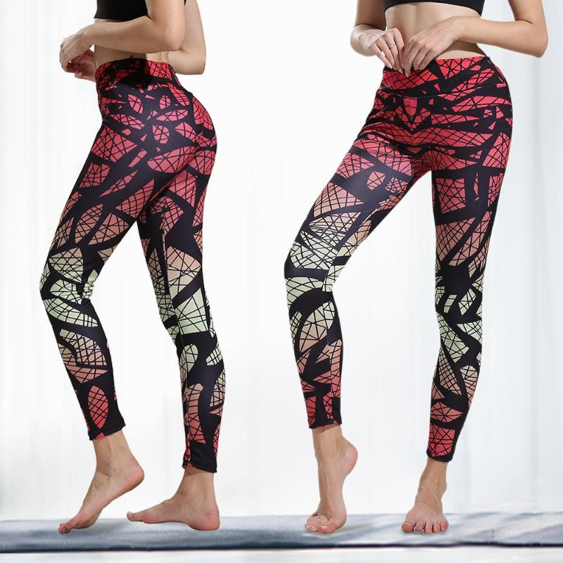 Sexy Women Digital Print Sports Yoga Pants Fitness Hight Waist Hip Lift Trousers Stretch Leggings Running Pants|Yoga Pants|   - AliExpress