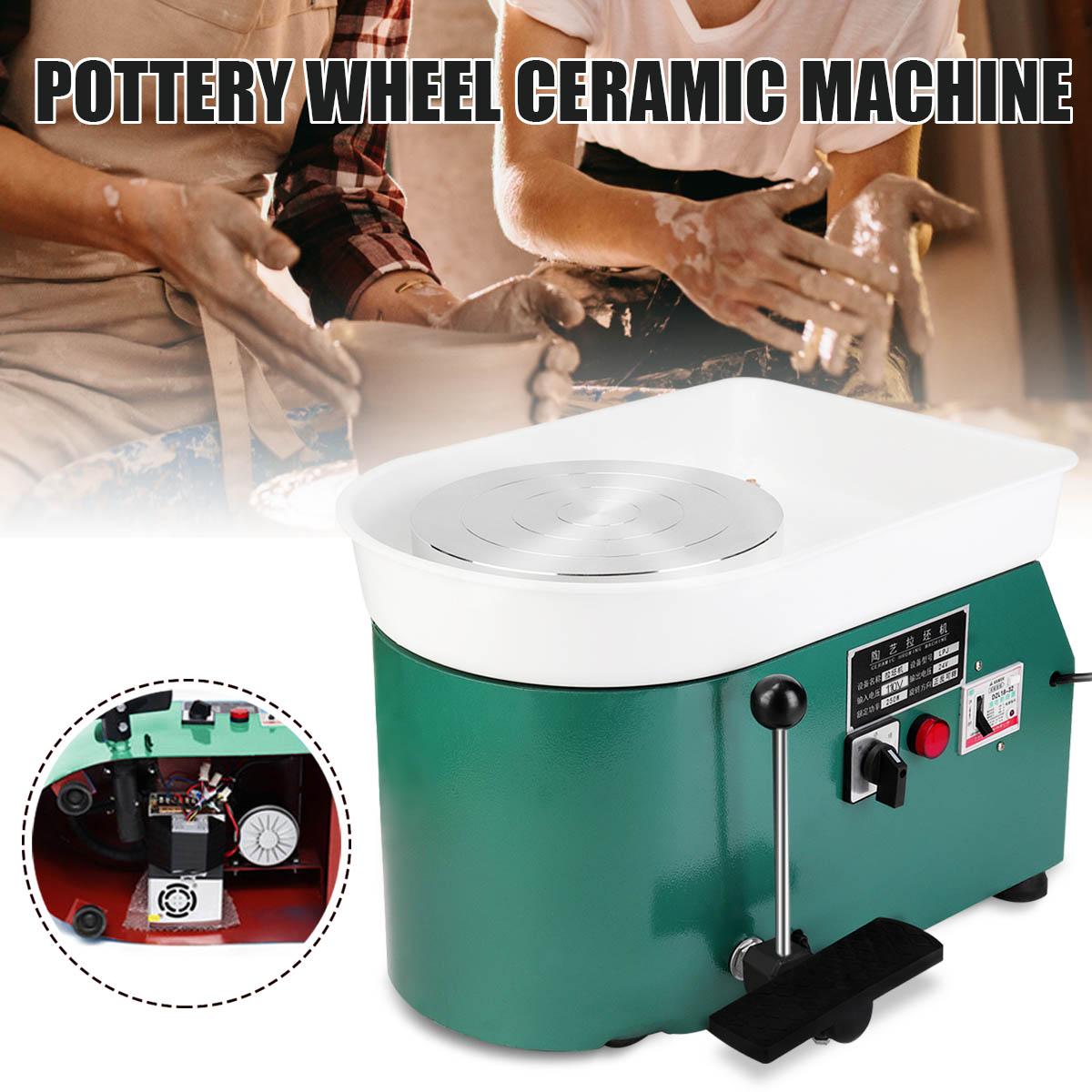 Poterie formant la Machine 250 W 110 V vert électrique poterie roue Machine accessoire céramique argile outil pied pédale Art artisanat