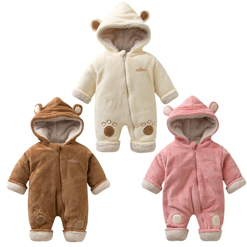 Christmas baby clothes body bebe Winter Flannel overalls for