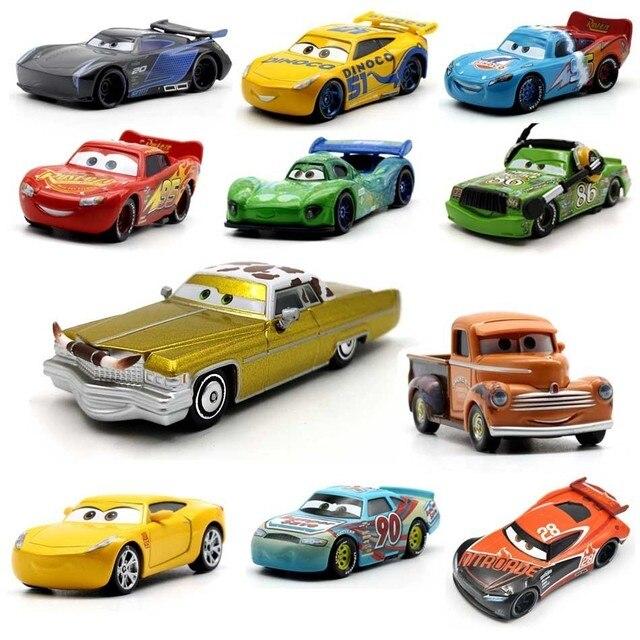 39 스타일 번개 Mcqueen Pixar 자동차 2 3 금속 다이 캐스트 자동차 디즈니 1:55 차량 금속 컬렉션 어린이를위한 아이 장난감 소년 선물